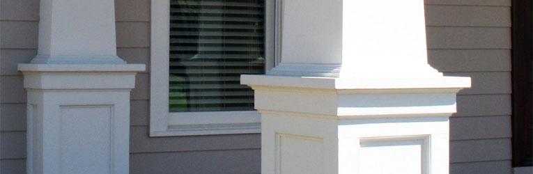 Exterior trim pillars & columns installation